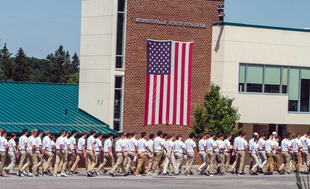 Day 2 walking under flag o